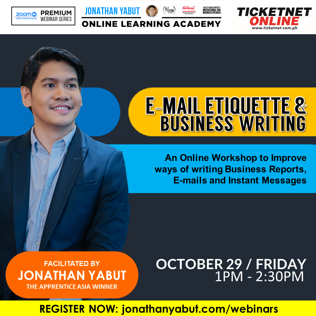 E-mail Etiquette and Business Writing with Jonathan Yabut